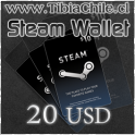 Steam wallet 20 USD